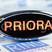 """Светодиодный шильдик с красной надписью """"Priora"""" для Лада Приора"""