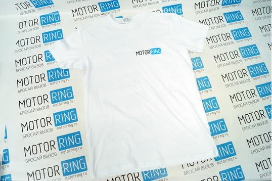 Футболка с эмблемой «MotorRing» White Style_1