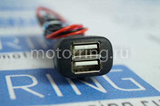 USB зарядное на 2 слота на ВАЗ 2108-21099, 2113-2115, Лада Калина, Нива 4х4, Шевроле Нива _1