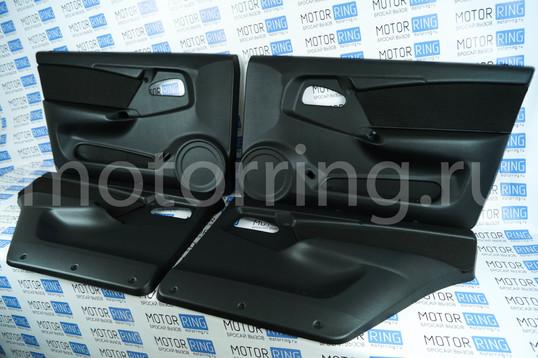 Заводские обивки дверей ЛЮКС-3 кожзам с тканевой вставкой на ВАЗ 2109, 21099, 2114, 2115_1