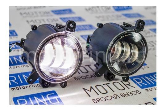 Диодные ПТФ ML Auto Light Technology 3 полосы на Лада Приора_1