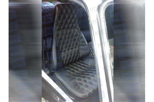 Обивка сидений (не чехлы) экокожа Ромб на ВАЗ 2107_1