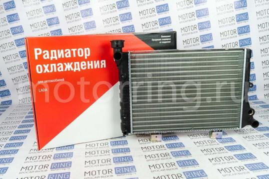 Радиатор охлаждения красная упаковка ОАТ алюминиевый на ВАЗ 2103, 2106_1