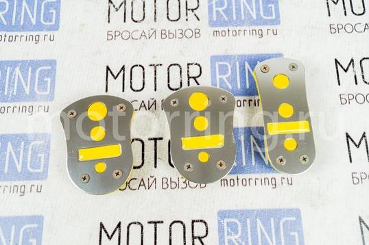 Накладки на педали AZARD Type R желтые круги_1