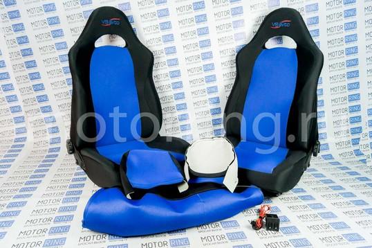 Комплект анатомических сидений VS Форсаж с обогревом на ВАЗ 2110-2112_1