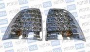 Светодиодные задние фонари ProSport RS-05891 для Лада Приора прозрачные, хром корпус