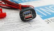 USB-зарядное устройство на 2 слота для ВАЗ 2108-15, Лада Калина, Нива 4х4, Шевроле Нива